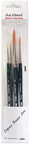 Da Vinci Serie 1570 agua Color cepillo, fibra sintética, verde,NOVA,no. 0,2,6, 12. Made in Germany