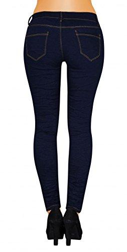 Damen Jeans Hose Skinny Röhrenjeans Hüfthosen Röhre Slim ( 484 ) Blau