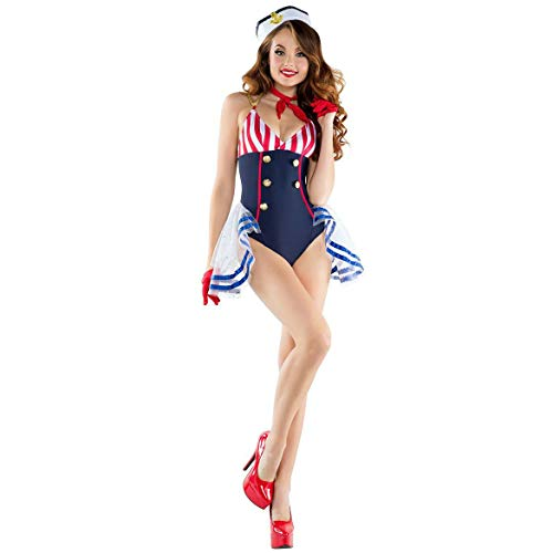 ZHANGBIN Halloween Cosplay Maskerade Erwachsene Weibliche Piraten Kostüm Spiel Uniform Set Sexy Matrosenanzug (Color : A, Size : Einheitsgröße)