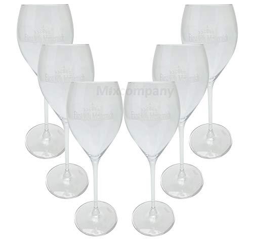 Fürst von Metternich Sektglas Gläser Flöte Set - 6X Gläser 0,1l geeicht