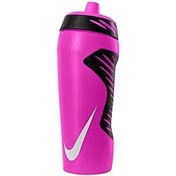 Nike hyperfuel Water Bottle Botella, unisex, HYPERFUEL WATER BOTTLE, Pink Pow/Black/White, 18oz/0.5L