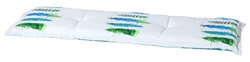 Madison 7BAN6-F069 Gartenbank, 2-Sitzer Anguilla mint, 120 x 48 cm, Baumwolle / Polyester, weiß / türkis