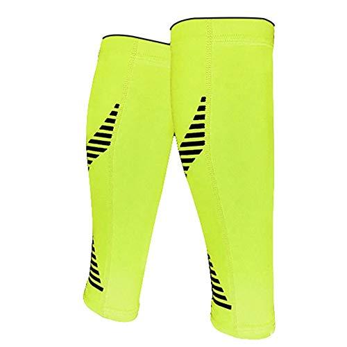 Schutzbein Kompression Kalb Ärmeln Kalb Wache Beinlinge Socken Für Männer Frauen Für Shin Splints Kalb Stämme Sport Erholung Laufen Radfahren Für Outdoor-Aktivitäten (Color : Green, Size : L) -