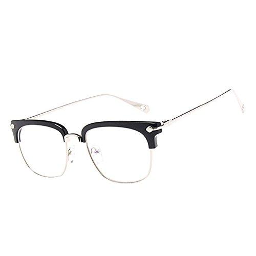 Haodasi Schwarz Retro Hälfte Rahmen Kurzsichtig Eyewear, Frauen Männer Kurzsichtige Brillen Kurzsichtigkeit Goggles Spectacles Brille -0.75 Stärke