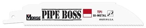 MK Morse RBPB125014T05 Pipe Boss Bimetal Reciprocating Blade,12-Inch, 14-TPI, 5-Pack