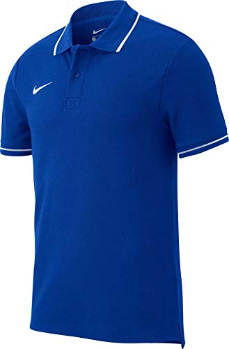 Nike Herren Team Club 19 Polo Poloshirt, royal Blue/White, L -