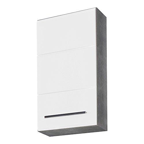 trendteam Nano Bad, Hängeschrank TA L/R, Holzdekor, Weiß, 21 x 32 x 61 cm