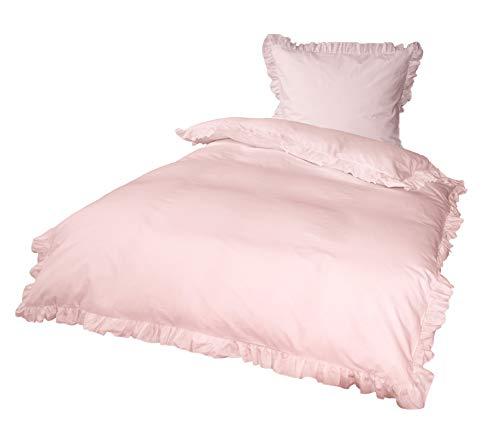 PremiumShop321 Goldmond Bettwäsche rosa mit Rüschen 135x200 / 80x80 von KBT 100{7a89df9139fa18dc76c0f2f01e1be96bfd58827c1f1d1ba7ec4e3544501202dd} Baumwolle