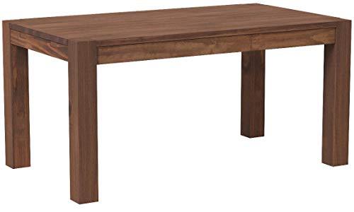 Esstisch Rio Bonito 140x80 cm, Pinie Massivholz, geölt und gewachst, Holz Tisch für Esszimmer, Wohnzimmer Küche, Farbton Cognac braun, Optional: passende Bänke und Ansteckplatten