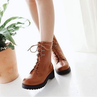 &ZHOU femmina adulti 'Boots autunno e l'inverno stivali brevi Martin stivali Cavaliere stivali A14 Brown