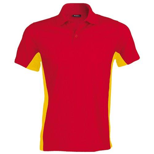 Kariban Herren Polo-Shirt Flag Marineblau/Himmelblau
