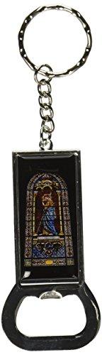 Grafiken und mehr Ring Bottlecap Öffner Schlüssel Kette, Glasfenster–Kirche Religiöse (kk2042) (Kirche-schlüssel)
