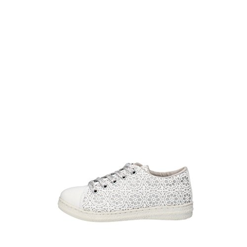 LULU bambina sneakers celeste / fucsia / bianco / oro beige tessuto (31 EU, Bianco)
