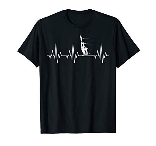 Wasserski Wasser Ski Sport Herzschlag T-Shirt Wassersport