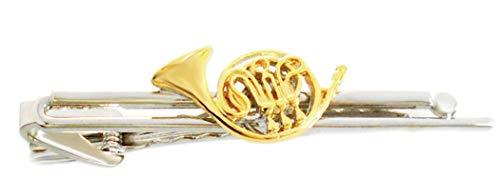Unbekannt Konzerthorn Krawattenklammer Krawattennadel Musikinstrumente Bicolor glänzend + Silberbox