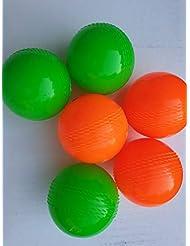 sports-24 - Pallone da Cricket, Colori Assortiti (Confezione da 6)