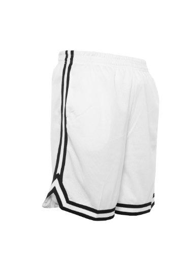 Urban Classics TB243 Herren Shorts Stripes Mesh White/Black/White