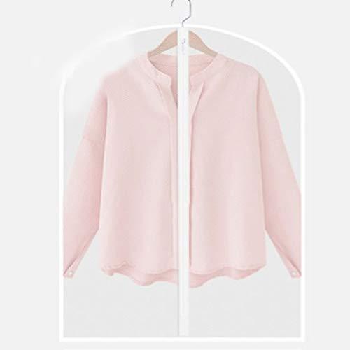 QFFL Sac de compression sous vide Housse anti-poussière pour vêtements, sac pour vêtements suspendus, pli domestique résistant à l'humidité (10 paquets) Sac de protection (taille : 60 * 128cm)