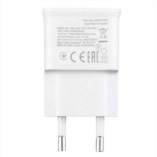 Luckiests Caricabatterie da Muro Universale 5V 2A Doppia Porta USB Adattatore CA Bianco per Tablet Cellulare