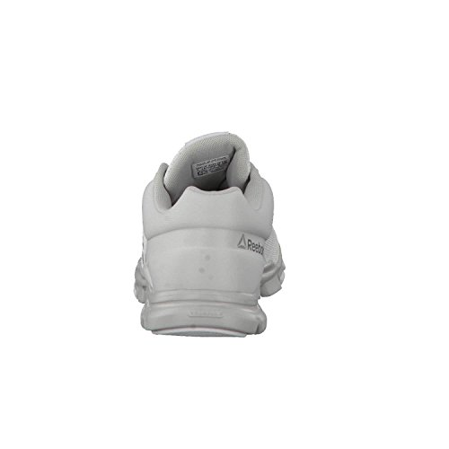 Reebok Yourflex Trainette 9.0 Mt, Sneaker a Collo Basso Donna Bianco (Wht/Skull Grey/Silver Met/Grey)