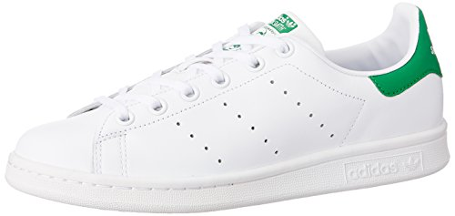 Adidas Stan Smith,  Unisex-Kinder Sneakers, Weiß (Ftwr White/Ftwr White/Green), 38 EU