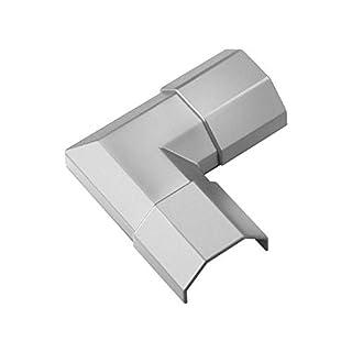 Goobay 90780 Silberne Kabelkanal Eckverbindung aus Kunststoff zur Erweiterung von Kabelkanälen