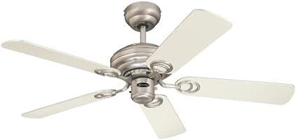 Westinghouse Ceiling Fans 7212340 - Ventilatore da soffitto Design and Combine Instaloc, 105 cm, colore: Acero/Bianco/Alluminio spazzolato