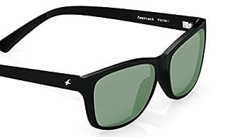 Fastrack UV protected Square Men's Sunglasses (P357BK1 41 millimeters Smoke (Grey/Black))
