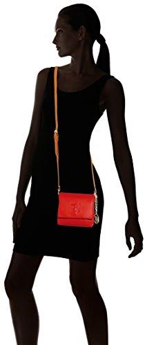 Trussardi Jeans 75b557xx53, Borsa a Tracolla Donna, 17x16x7 cm (W x H x L) Rosso