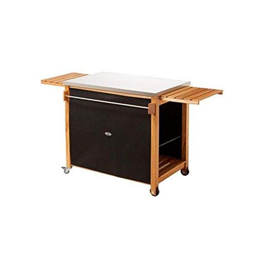 Eno CMI60 Chariot et Accessoires Plancha Table Chêne Brosse