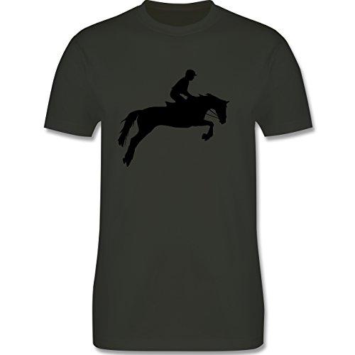 Reitsport - Springreiten - Herren Premium T-Shirt Army Grün
