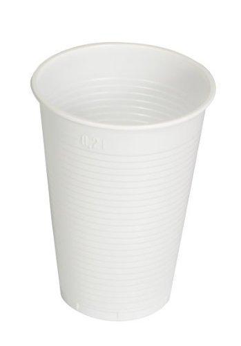 Einwegtrinkbecher 0,2 Liter weiß | 3000 Stück | Partybecher aus Kunststoff | Ideal für Feste - wie Geburtstage, Grillparties, sowie für Hygienebereiche - Patienten, Pflege uvm. Weiße Becher