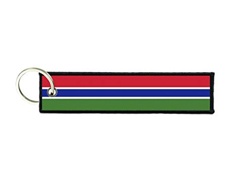 Preisvergleich Produktbild akachafactory Schlüsselanhänger Auto Moto anhänger Flagge Fahne flaggen Gambia