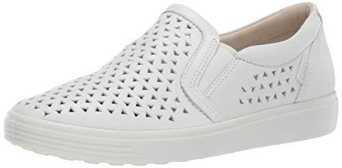 Ecco Soft 7, Zapatillas sin Cordones para Mujer, White 1007, 41 EU