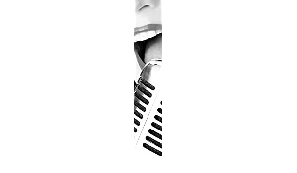 8.5-Feet by 1.5-Feet JP London uStrip Lite UCLT9029 Prepasted Mural J Lopez Jazz Night Microphone