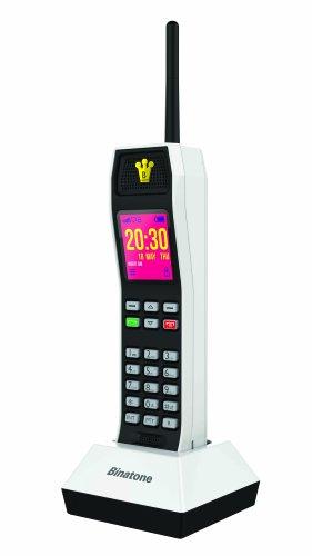 Binatone The Brick Power Edition - Retro GSM Mobilfunk Handy - SIM-Free - Powerbank - weiß (Tischtelefon Mit Schnurlosem Telefon)