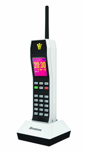 Binatone The Brick Power Edition - Retro GSM Mobilfunk Handy - SIM-Free - Powerbank - weiß