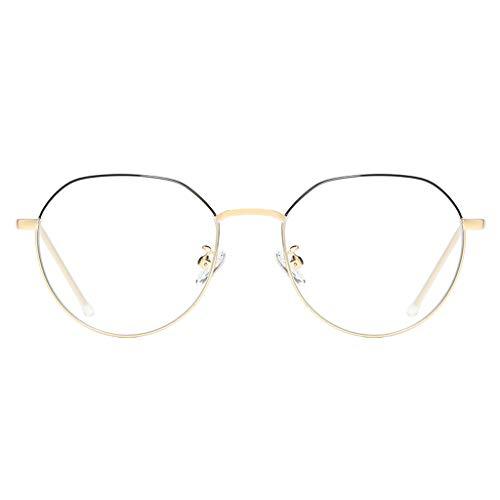Unbekannt Anti-Blaue Strahlung Computer Farbwechsel Brille Handy Schutzbrille Anti-Müdigkeit Strahlenschutz und UV-Schutz (Black Gold Frame)