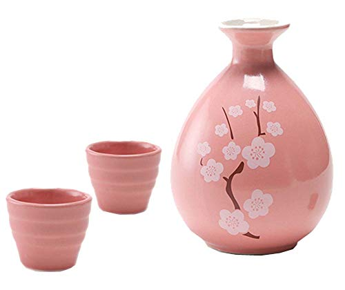 Black Temptation Bouteille de vin en céramique de Style Ancien en Verre Set de vin Sake Set Rose -