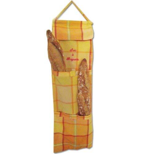 SACASAC ® Baguette bolsa - Azulejos del modelo - 66 x 22 cm. 100% algodón - Fabricación francesa