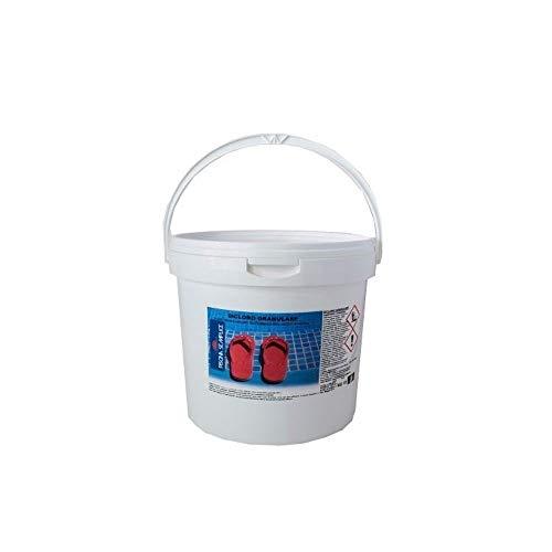 Lapi - Secchio 10 Kg Dicloro Granulare 56% A Rapida Dissoluzione Per Il Mantenimento Dell'Acqua Piscina. cloro in grani per acqua piscina prodotto da azienda Italiana certificata