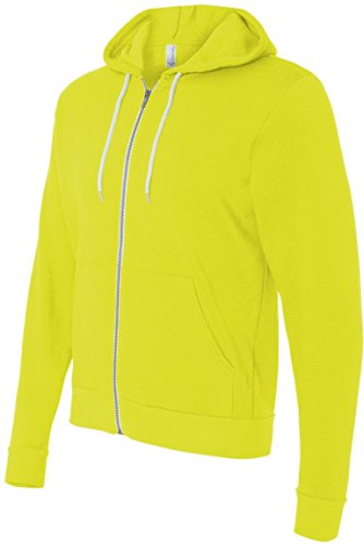Bella+Canvas: Unisex Poly-Cotton Full Zip Hoodie 3739 Neon Yellow