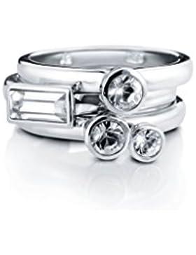 Liora / 3-er Ring-Set der LIORA-Kollektion / Maße: S 16,5 mm / mit klaren Swarovski Kristallen / können gemeinsam...