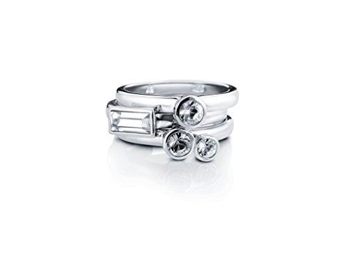 Liora Kristall-Ringe, stapelbar