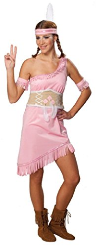 R3512-38-A rosa Damen Indianerkleid Apachenkleid - Sexy Cow Girl Kostüm