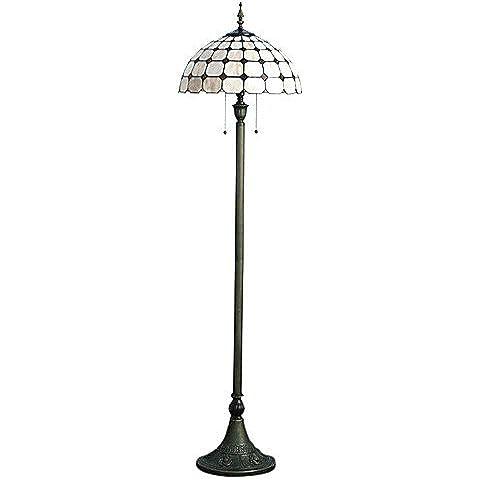 Sepfortn 60W stile semplice di Luce del pavimento con motivo a scacchi e Perline a forma di diamante lampade da scrivania