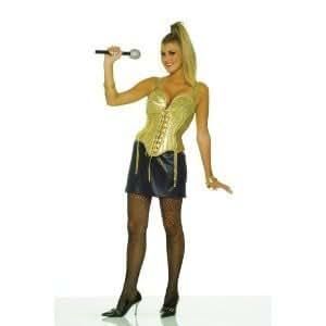 80s Madonna Fancy Dress Gold Top Amp Black Skirt Uk 10 14