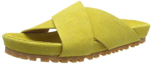 Marc O'Polo Damen Sandal, Yellow, 39 EU