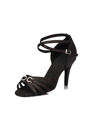 ShangYi Chaussures de danse(Noir / Bleu / Violet) -Personnalisables-Talon Personnalisé-Satin-Latine / Jazz / Salsa / Samba / Chaussures de Swing Purple