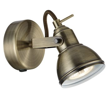 Searchlight Focus 1-Light Antique Brass Finish Halogen Spotlight Wall Light, 1541AB - low-cost UK wall light shop.